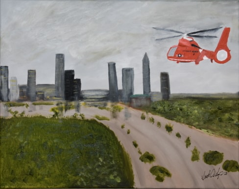 Hurricane Rescue Oil Painting